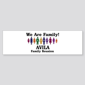 AVILA reunion (we are family) Bumper Sticker