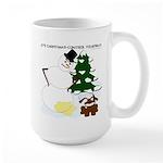 Christmas Yellow Snow Large Mug