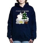 Christmas Yellow Snow Women's Hooded Sweatshirt