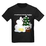 Christmas Yellow Snow Kids Dark T-Shirt