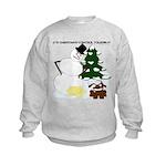 Christmas Yellow Snow Kids Sweatshirt