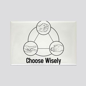 Choose Wisely Rectangle Magnet