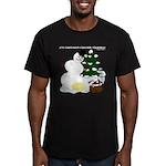 Christmas Yellow Snow Men's Fitted T-Shirt (dark)