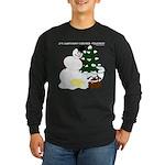 Christmas Yellow Snow Long Sleeve Dark T-Shirt