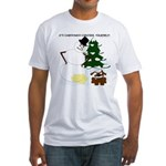 Christmas Yellow Snow Fitted T-Shirt