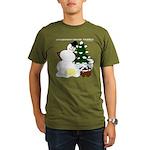 Christmas Yellow Snow Organic Men's T-Shirt (dark)