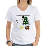 Christmas Yellow Snow Women's V-Neck T-Shirt