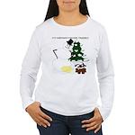 Christmas Yellow Snow Women's Long Sleeve T-Shirt