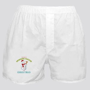 Christmas Morning Person Snowman Boxer Shorts