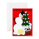 Christmas Yellow Snow Greeting Cards (Pk of 10)