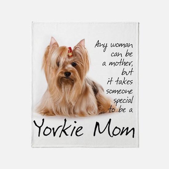 Yorkie Mom Throw Blanket