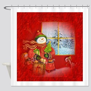 Snowman Days Shower Curtain