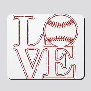 Love Baseball Classic Mousepad