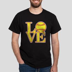 LOVE SOFTBALL STITCH Print T-Shirt