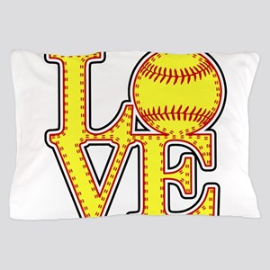 LOVE SOFTBALL STITCH Print Pillow Case