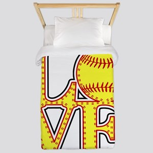 LOVE SOFTBALL STITCH Print Twin Duvet