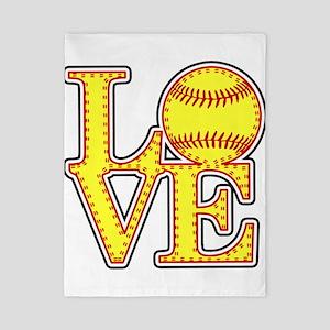 LOVE SOFTBALL STITCH Print Twin Duvet