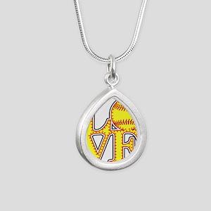 LOVE SOFTBALL STITCH Print Necklaces