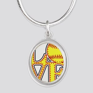 LOVE SOFTBALL STITCH Print Necklaces