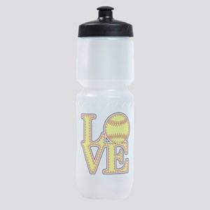 LOVE SOFTBALL STITCH Print Sports Bottle
