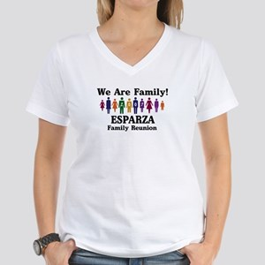 ESPARZA reunion (we are famil Women's V-Neck T-Shi