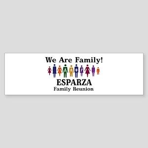 ESPARZA reunion (we are famil Bumper Sticker