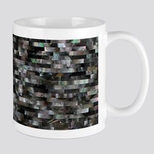 Black Mother of Pearl Mugs