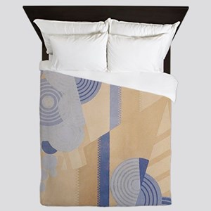 Art Deco Abstract Queen Duvet