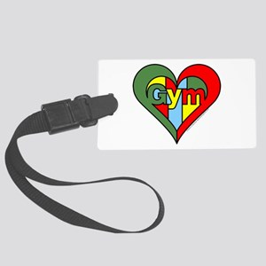 Gym Heart Large Luggage Tag