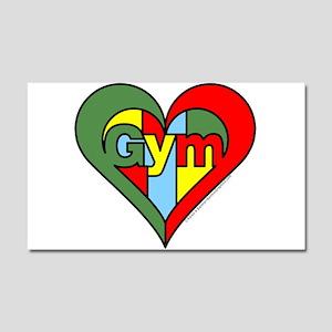 Gym Heart Car Magnet 20 x 12