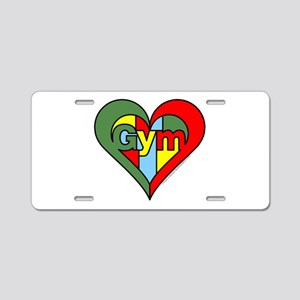 Gym Heart Aluminum License Plate
