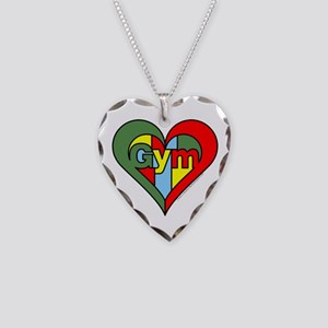 Gym Heart Necklace Heart Charm