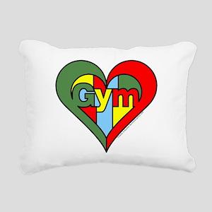 Gym Heart Rectangular Canvas Pillow