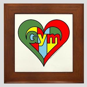 Gym Heart Framed Tile