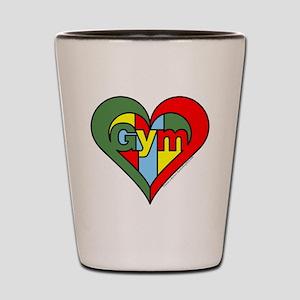 Gym Heart Shot Glass