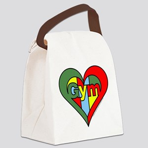 Gym Heart Canvas Lunch Bag