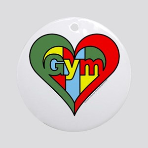 Gym Heart Ornament (Round)