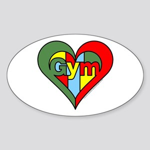 Gym Heart Sticker (Oval)