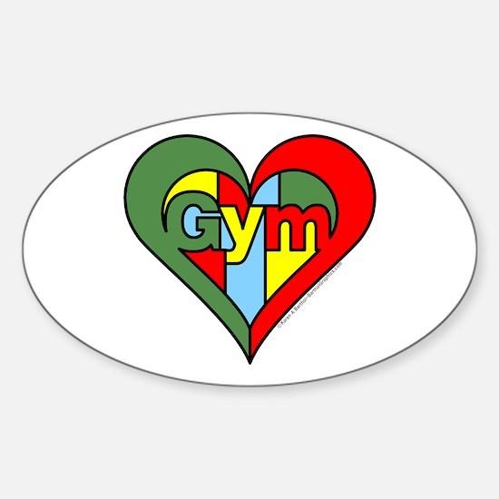 Gym Heart Sticker (Oval)