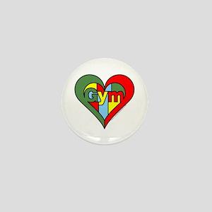 Gym Heart Mini Button