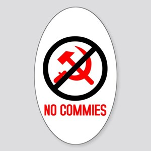 No Commies! Oval Sticker