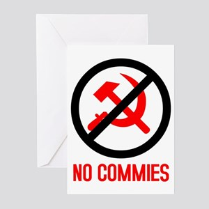 No Commies! Greeting Cards (6)