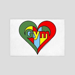 Gym Heart 4' x 6' Rug