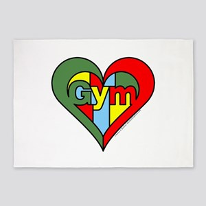 Gym Heart 5'x7'Area Rug