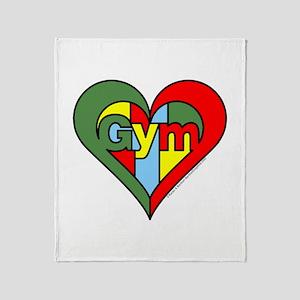Gym Heart Throw Blanket