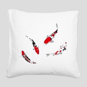 Varicolored carps Square Canvas Pillow