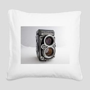 Vintage Camera Square Canvas Pillow