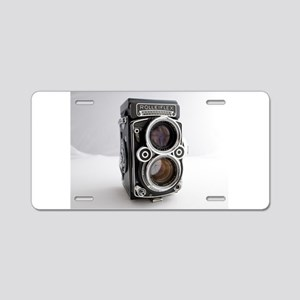 Vintage Camera Aluminum License Plate