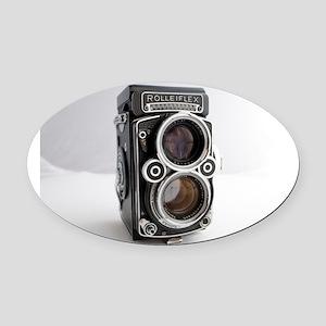 Vintage Camera Oval Car Magnet