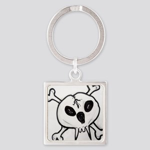 vampire,skull, cross bones art Keychains